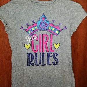 Childrens Place Kids Girls This Girl Rules T-shirt